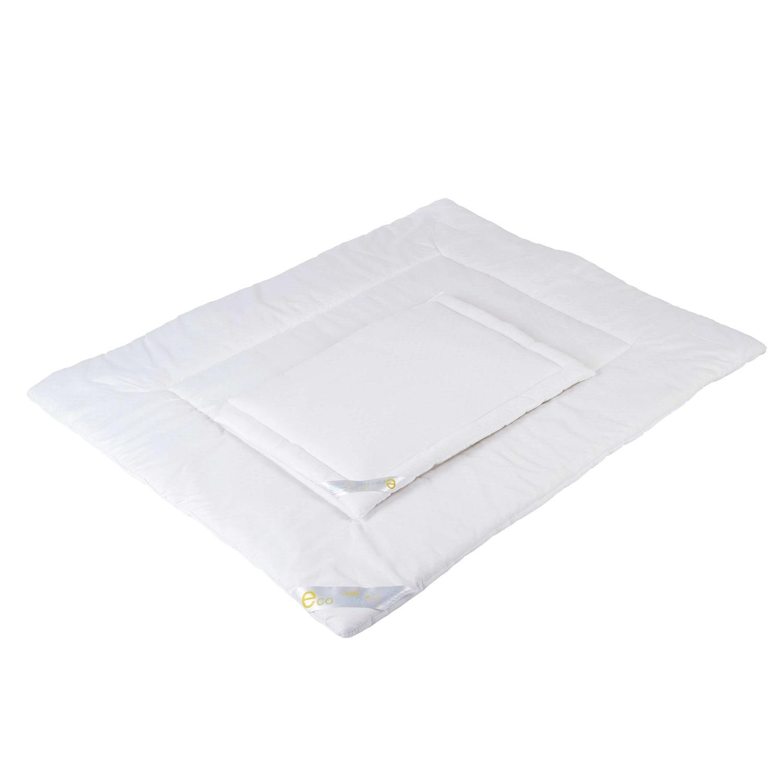 2-tlg. Steppbett-Set Kissen+Decke Allergiker-geeignet