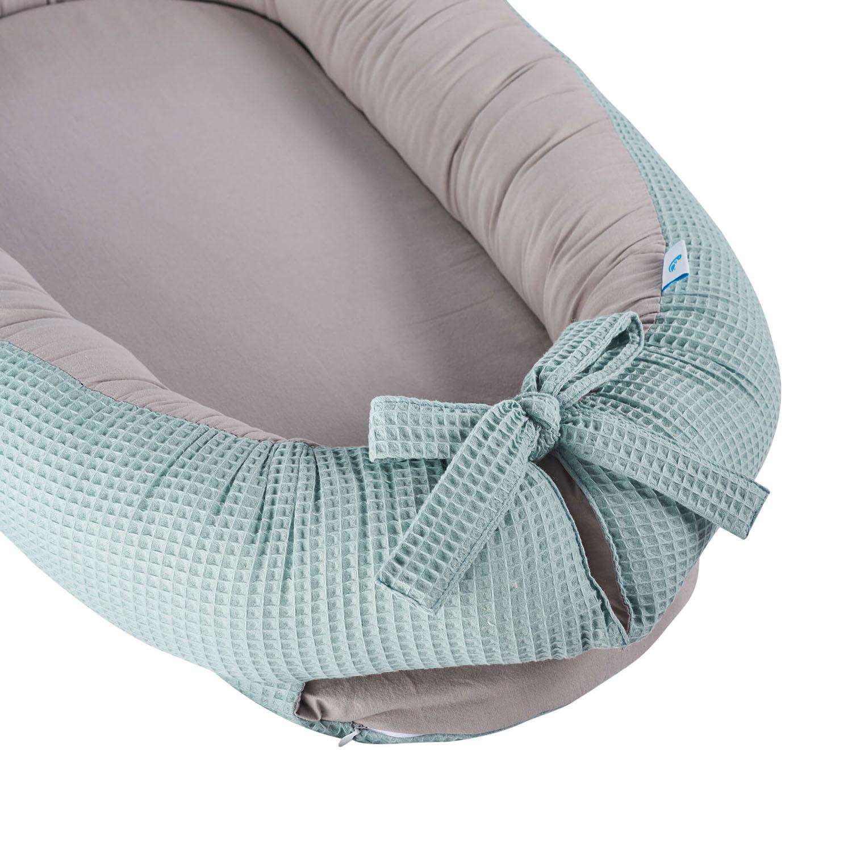 Babynest Kokon Waffelpiqué - mint
