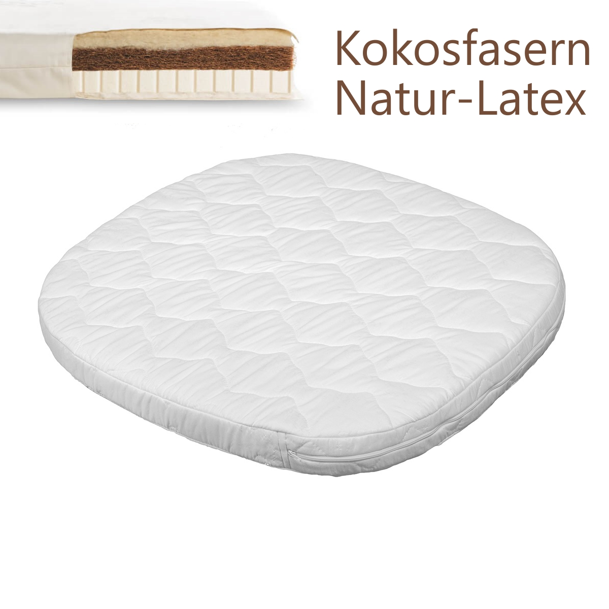 tweeto Wende-Matratze Kokos / Naturlatex - 70x70